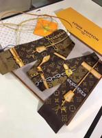 châle de style coréen achat en gros de-2018 printemps été nouveau style coréen petite écharpe foulard multi fonctionnel en soie foulard fleur mode mignon femmes foulard