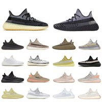 aydınlatılmış koşu ayakkabıları toptan satış-Stock X Desert Sage Earth Cloud White Citrin Kanye West Designer Sneakers Bred Black Reflective Yeshaya Men Women Sports Running Shoes 36-46