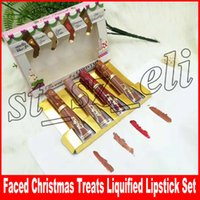 Wholesale sugar lipstick for sale - Group buy Faced The Sweet Smell of Christmas Treats Liquified Lipstick Set Pimpkin Spice Sugar Cookie Cinnaman Bear Hot Buttered
