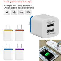 двойная док-станция для iphone оптовых-5 В / 2.1A Dual USB Зарядное Устройство США ЕС Plug Адаптер переменного тока 2 Порта Nokoko Зарядное Устройство Для Samsung Huawei iPhone Зарядный Адаптер