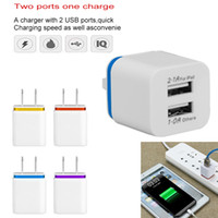 chargeurs muraux usb 2.1a achat en gros de-5V / 2.1A Dual USB chargeur mural US EU Plug adaptateur secteur 2 ports Nokoko chargeur pour Samsung Huawei iPhone adaptateur de charge