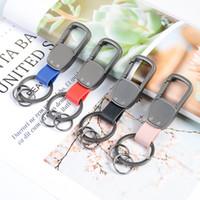 anahtarlık oyma toptan satış-DIY Anahtar Zincirleri LOGO Oyma Araba Çanta Kolye Anahtarlık Alaşım Metaller PU Anahtarlık Erkek Kadın Hediyeler Benzersiz Tasarım 4yz N1