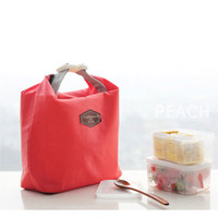 Wholesale insulated purple lunch bag for sale - Group buy Fashion Portable Thermal Insulated Lunch Bag Carry Picnic Tote Lady Cooler Lunch Box Storage Bag Insulation Package