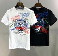 3d schädelkopfhemd großhandel-Hot Paris Mode KENZ Marke Männer T-Shirts 002 Tiger Head Luxus Designer Sommer Kurzarm 3D Print Tees Medusa Shark Schädel PP D2 Tops