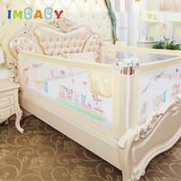cercas venda por atacado-IMBABY Cama de Bebê Cerca Barreira Cama Cerca Barreira infantil para camas Crib Trilhos Bebê Segurança Portão De Segurança Playpen