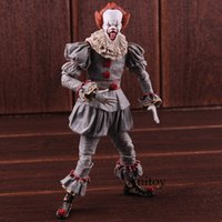 figuras de ação do rei venda por atacado-Stephen King É Pennywise Action Figure Neca Pvc Horror Filmes Brinquedos Collectible Toy Modelo J190720