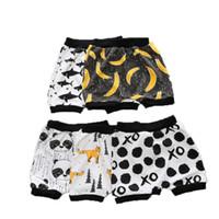 multi color fotografías al por mayor-Pantalones Harem Boy Pantalones cortos de fruta de Odale de verano Dibujos animados Fotos Algodón Estilo variado Ocio Estilo lindo Suave 15