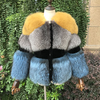 меховые шкуры лисы оптовых-2018 New Real Silver  Fur Coat for Women Winter Natural Sheep Shearing Full Pelt Thick Warm Coat Luxury Silver  Fur Jacket