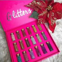 Wholesale lip for sale resale online - Hot Sale Brand Cosmetics Multi Purpose Loose Glitter Powder Bundle Set In Box Color For Eye Shadow Face Lip Body Illuminator Free Shiping