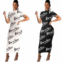 Wholesale short sleeve slip dress for sale - Group buy Full Letter Print Slip Dress Women Spaghetti Long Dresses Bodycon One Piece Skirt Fashion Designer Strap Dress Club Outfits Clothing S XL