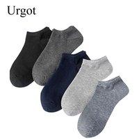 erkekler için iş çorapları toptan satış-Urgot 10 Pairs Erkek Çorap Iş Rahat Pamuklu Çorap Yaz Sonbahar Katı Renkler Ekip Erkek Nefes Moda Meias