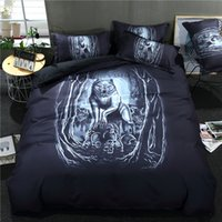 ingrosso skull bedding-Tiger on the Skull Set biancheria da letto 3D Copripiumino stampato Set 3 pezzi / set Queen King Twin Size