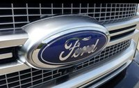 "Ford Front Grille Tailgate Emblem, Oval 6""X2.4"", Dark Blue Decal Badge Nameplate for 07-10 Edge, 05-11 Escape, 06-10 Explorer, 05-11 Expedit"