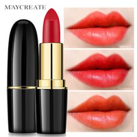 Wholesale Waterproof Long Lasting Lipstick Sexy Red Lip Tint Lips Makeup Nutritious Matte Moisturizing Lip Stick Cosmetics Mate Batom
