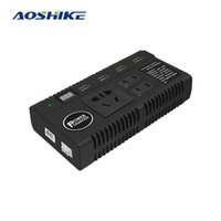 Wholesale 24v power inverter pure sine for sale - Group buy AOSHIKE Pure Sine Wave Inverter Car Inverter High Power Connector DC12V V to AC110 V W A with for Day