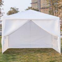 Wholesale events tent resale online - 10x10Ft Portable Party Wedding Tent Canopy Heavy Duty x m Four Sides Waterproof Outdoor Patio Gazebo Pavilion Event