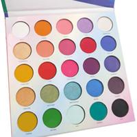 ingrosso palette colorate di trucco-Palette di ombretti 25L Make Life Colorful 25 colori Palette di ombretti di marca Ombretto per trucco opaco lucido