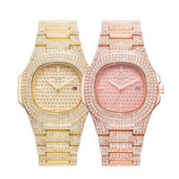Wholesale diamond crystal cartoon resale online - Fashion Diamond Crystal Dials Wristwatch Women Mens Party Casual Quartz Watches For Man Woman PATEK HILIPPE Watch