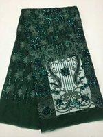 telas de encaje completo al por mayor-Lentejuelas de malla de tela de encaje africano francés tela de guipur con lentejuelas bordado de alta calidad de encaje para Nigeria bodas de encaje
