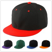Wholesale blank snap cap hat for sale - Group buy High Quality Hot Selling Plain Blank Snapback hats black Snapbacks Snap Back Strapback Caps Hat Mix order