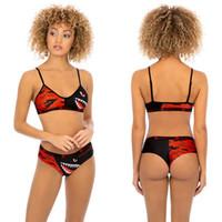 einstellbarer bikini großhandel-Frauen 2 Stück Ethika Set Designer Bademode Bikinis Set Badeanzug verstellbarer BH + Hipster Bikini Badeanzug Shark Beachwear C61806