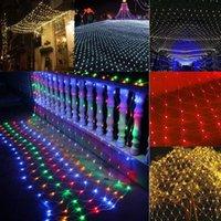 ingrosso stringa dei chrismas-Fashion New Outdoor LED Net String luce Chrismas Wedding Party Decor Fata maglia moda LED Net String luce