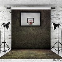 Wholesale photo background 5x7ft for sale - Group buy basketball stands vinyl cloth photography backgrounds portrait photographic backdrop X7ft vinyl cloth backdrops for photo studio Camera