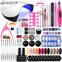 Wholesale electric nail drill manicure tool for sale - Group buy Nail Art Set W UV Led Lamp Dryer With UV Gel Nail Polish Set Kit Tools Gel Varnish Manicure Tools Kit Electric drill