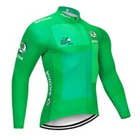 Wholesale high quality cycling clothing team resale online - TOUR DE FRANCE team Cycling long Sleeves jersey New Men Breathable Comfortable Bicycle clothes High Quality Outdoor U53042