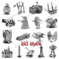 brinquedos mini carros brancos venda por atacado-Montagem de quebra-cabeças de Metal 3D Brinquedos 168 Projetos modelo DIY milênio falcão Tie Fighter 3D Metallic Nano construção de quebra-cabeça para Adultos e Crianças