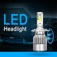Wholesale Front light1 Car LED Headlight Conversion Lamp Kit External Lamp Headlight Universal for Car LED Bulb Automatic White k