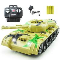 11 rc batterie großhandel-Heißer verkauf rc tank wüste blau grüne farbe militärspielzeug modell radio control tank benötigen 3 batterien