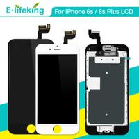 iphone ön ekran değiştirme toptan satış-IPhone 6 S Için komple LCD 6 S Artı Ekran Dokunmatik Ekran LCD Meclisi Ana Düğmesi Ile iPhone 6 S 6SP Için Ön Kamera Değiştirme
