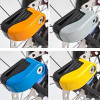 travas de roda de bicicleta venda por atacado-Segurança Da Bicicleta Da Bicicleta Alarme da bicicleta fechaduras Sturdy Roda Disco Freio de Bloqueio de Segurança de Alarme de bloqueio com chave de Bloqueio Anti-roubo ZZA518