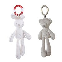 Wholesale bear bedding for sale - Group buy Baby Comforter toys Bear Baby stroller Bed pendant Hanging Plush Toys Windbell Educational Toy Grey white