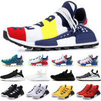Wholesale human race runner boost running shoes for sale - Group buy NMD Human Race Trail Boost Running Shoes Men Women Pharrell Williams HU Runner Yellow Black White Red Mens Trainer Sport Sneaker Size