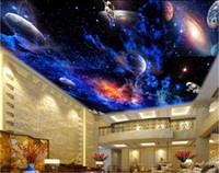 live wallpaper hd al por mayor-Murales de techo 3D wallpaper foto personalizada HD remolino brillante nebulosa decoración para el hogar sala de estar murales de pared 3d wallpaper para paredes 3 d