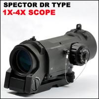iluminado, mil, ponto, alcance venda por atacado-Spector Tático DR 1X 4X Iluminado Mil-Dot Scope rifle escopo Black Dark Earth