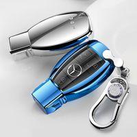 benz s toptan satış-Patent TPU Araba Oto Uzaktan Anahtar Kılıfı Kabuk için Mercedes-Benz A / B / C / E / ML / GL / S / GLA / GLK Araba Aksesuarları Styling