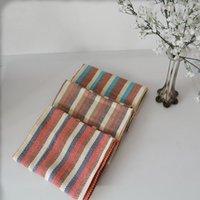ingrosso polveri di cotone-42 * 66CM Cotton Stripe Napkin 3 Colori Assorbente Asciugamano lavabile Duster Panno Dinner Placemat Cucina Tessile 3 Pezzi ePacket