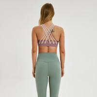 Wholesale maternity clothe for sale - Group buy afk_lu bra block color lines push up yoga bra training gym clothes women sports underwear