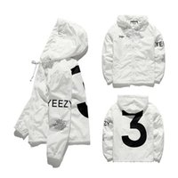 mens moda ceketleri toptan satış-Erkek KANYE WEST Ceket Hip Hop Rüzgarlık moda tasarımcısı ceketler Erkek Kadın Streetwear Kabanlar Coat yüksek kalite