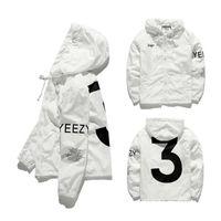 hohe mode herren oberbekleidung großhandel-Mens KANYE WEST Jacke Hip Hop Windbreaker Modedesigner Jacken Männer Frauen Streetwear Oberbekleidung Mantel hohe Qualität