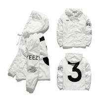 mtb saxo banka forması toptan satış-Erkek KANYE WEST Ceket Hip Hop Rüzgarlık moda tasarımcısı ceketler Erkek Kadın Streetwear Kabanlar Coat yüksek kalite
