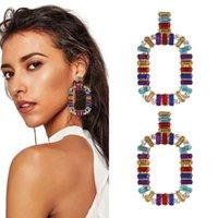 cristaux de lustre à vendre achat en gros de-diamants colorés pendent boucles d'oreilles pour les femmes western vente chaude mode fille lustre en cristal boucle d'oreille de vacances style bijoux