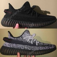 Wholesale mens soft spikes running shoes for sale - Group buy Black Static Reflective Antlia Clay Hyperspace True Form Chameleon Mens Kanye West Running Shoes Zebra Women Fashion Designer Sneakers