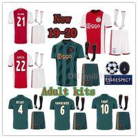 ajax weg fußballuniform großhandel-2019 2020 AJAX Heim Auswärts Trikots Trikots 19 20 Ajaxa Amsterdam Set DE LIGT TADIC ZIYECH DE JONG Champions Trikot Uniform Trikot