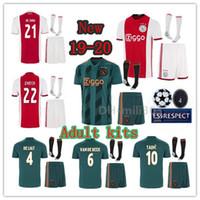 Wholesale ajax away soccer uniform for sale - Group buy 2019 AJAX home Away Soccer Jerseys kits ajaxa msterdam set DE LIGT TADIC ZIYECH DE JONG Champions football shirt Uniform kit