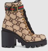 botas de gama alta al por mayor-new01246 señora de la alta calidad caliente Casual botas de tejer de alta gama hombres forman los zapatos de tacón Casual mujeres diseñan los zapatos