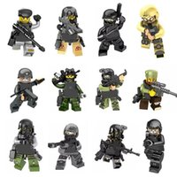 Wholesale military toys for boys for sale - Group buy Armas Ghost Commando Action Figure SWAT The Wraith Assault Military Mini Toy Figure Building Blocks Army Weapon Armed Force Toy For Boy